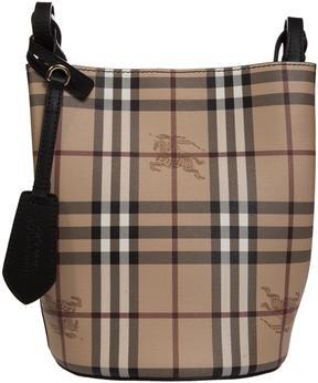 Burberry Checked Bucket Bag - NERO - STYLE