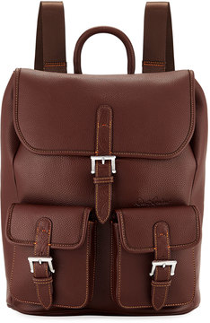Robert Graham Johnny Pebbled Faux-Leather Backpack