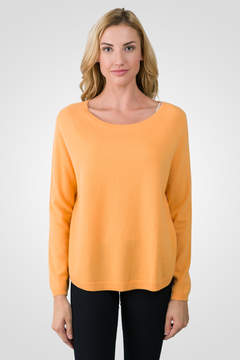 J CASHMERE Apricot Cashmere Boatneck Raglan Sweater