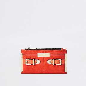 River Island Orange buckle fold out purse