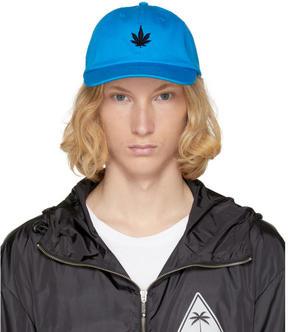 Palm Angels Blue Leaf Cap