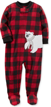 Carter's 1-Pc. Buffalo Check-Print Footed Pajamas, Toddler Boys (2T-5T)