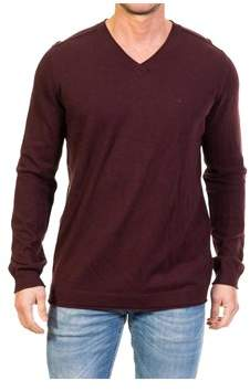 Calvin Klein Jeans Men's Burgundy Cotton Sweatshirt.