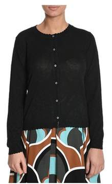 Altea Women's Black Viscose Cardigan.