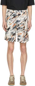 Lemaire Multicolor Print Elasticized Shorts