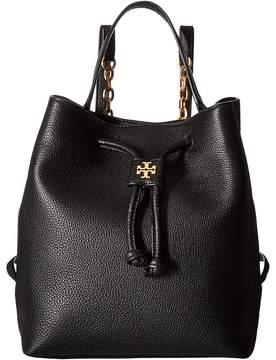 Tory Burch Georgia Pebbled Backpack Backpack Bags - BLACK - STYLE