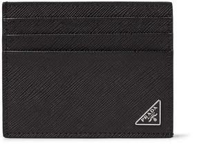 Prada Cross-Grain Leather Cardholder