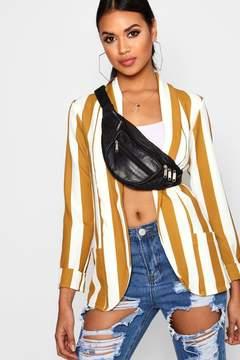 boohoo Stripe Pocket Collared Blazer