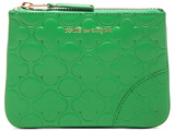 Comme des Garcons Clover Embossed Small Pouch in Green.