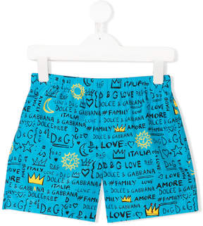 Dolce & Gabbana branded swimming shorts