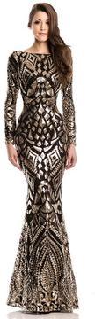 Johnathan Kayne 7241 Long Sleeve Embellished Evening Gown