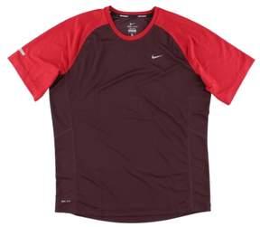 Nike Mens Dri Fit Running T Shirt Deep Red L