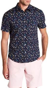 Original Penguin Palm Print Short Sleeve Heritage Slim Fit Shirt