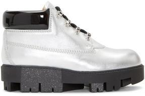 Acne Studios Silver Tinne Hiking Boots