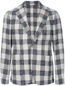Manuel Ritz checked casual blazer