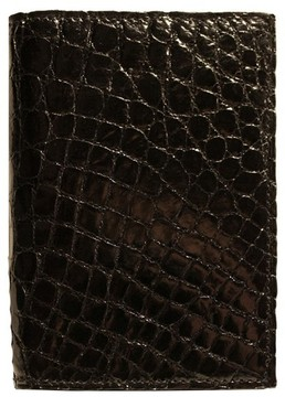 Boconi Men's Crocodile Card Case - Black