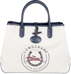 Longchamp 1948 Tote - NAVY/RED - STYLE