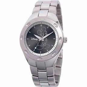 Disney Mickey Mouse Men's Stainless Steel Watch, Silver Bracelet