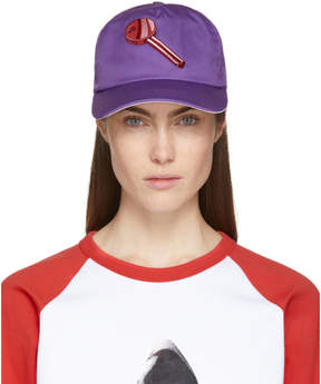 Acne Studios Purple Heart Key Calis Soft Baseball Cap