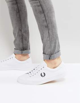 Fred Perry Underspin Leather Sneakers in White