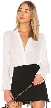 Bella Dahl Ruffled Back Collared Shirt