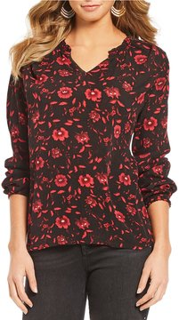 Chelsea & Theodore Floral Printed Blouse