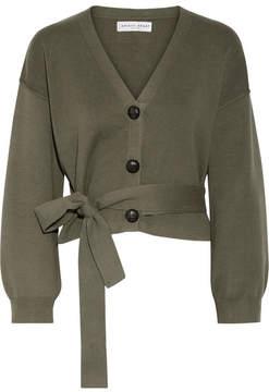 Apiece Apart Salinas Cotton And Cashmere-blend Cardigan - Army green