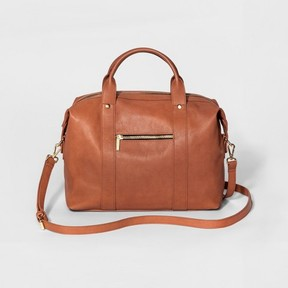 Mossimo Supply Co. Women's Duffle-Shaped Soft Satchel with Crossbody Strap - Mossimo Supply Co.