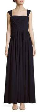 Vera Wang Sleeveless Solid Gown