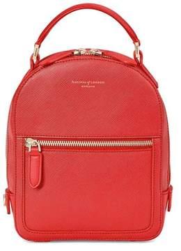 Aspinal of London | Micro Mount Street Backpack In Dahlia Saffiano | Dahlia saffiano