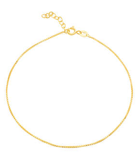 Bliss 14k Gold-Plated Box-Chain Anklet