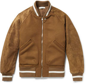 Nonnative Wool-Blend And Suede Bomber Jacket
