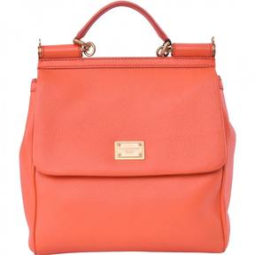 Dolce & Gabbana Sicily leather handbag - ORANGE - STYLE