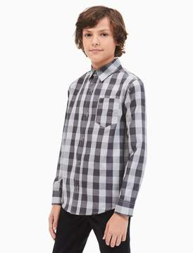 Calvin Klein boys bold check shirt