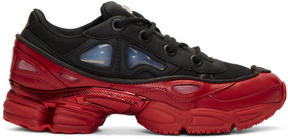 Raf Simons Black and Red adidas Originals Edition Ozweego 3 Sneakers