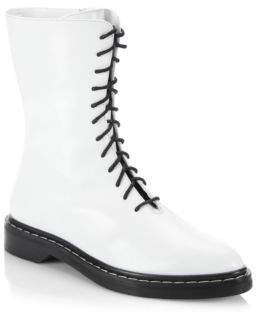 The Row Fara Leather Combat Boots