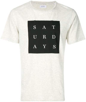 Saturdays NYC logo patch T-shirt