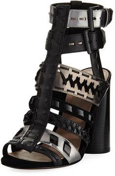 Donald J Pliner Bindy Multi-Strap Stitched Sandal, Black