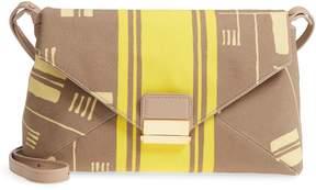 Dries Van Noten Abstract Print Canvas Envelope Clutch