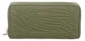 Bvlgari Textured Zip Wallet