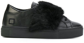 D.A.T.E lace-up fur sneakers