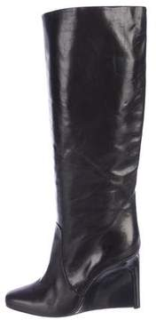 Calvin Klein Collection Leather Wedge Boots