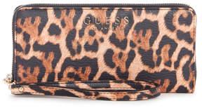 GUESS Lizzy Leopard Zip-Around Wallet