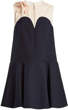 DELPOZO Contrast-yoke cotton dress