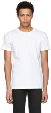 Naked & Famous Denim Denim White Ring Spun T-Shirt