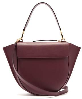 Hortensia Wandler Medium Leather Cross Body Bag - Womens - Burgundy