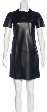 Celine Leather Mini Dress