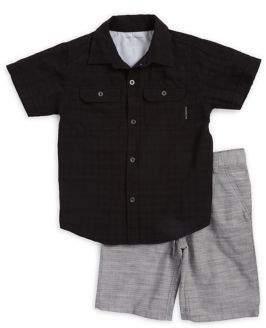 Calvin Klein Jeans Little Boy's Two-Piece Shirt and Shorts Set