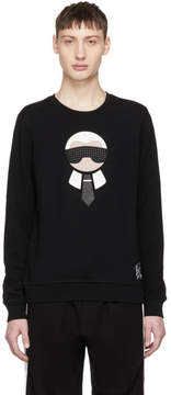 Fendi Black Karlito Sweatshirt