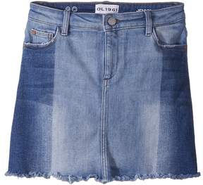 DL1961 Kids Jenny Two-Toned Denim Skirt in Hollywood Girl's Skirt